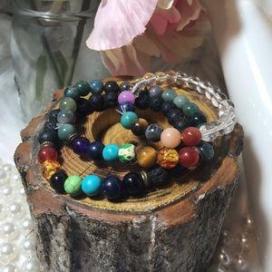 3 Chakra Healing Beaded Stone Essential Bracelets
